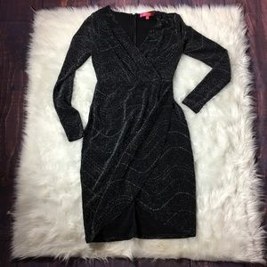 Catherine Malandrino Black Shimmer Dress